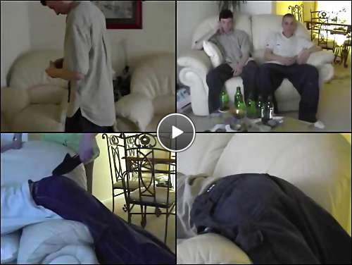 spanked penis video